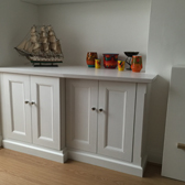 classic fitted white base cabinet