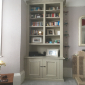 fitted cabinet with shelving