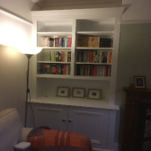 alcove cabinet with bottom storage